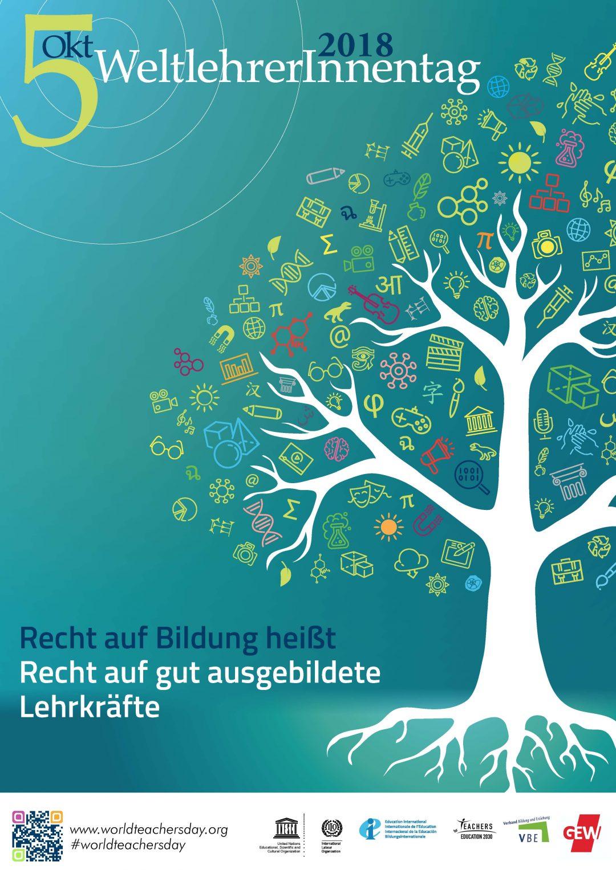 """World Teachers' Day 2018: GEW und VBE: """"Bildungsqualität nur durch massive Investitionen sicherzustellen"""""""